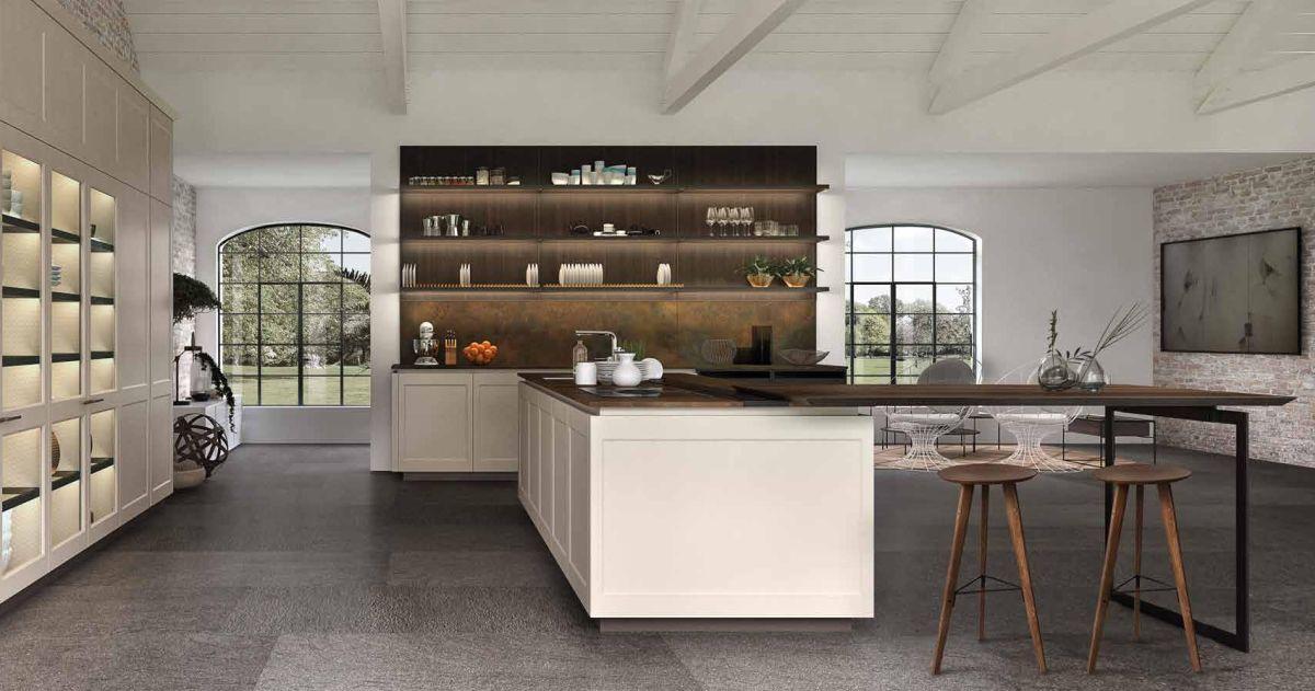 Boiserie Da Cucina : Euromobil cucine composizione con boiserie vero arredamenti