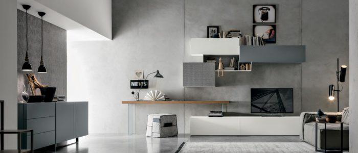 scrivania in soggiorno