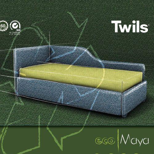 Letto imbottito in promozione Eco Maya by Twils